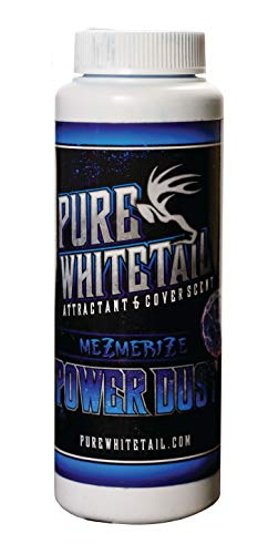 Pure Whitetail Mezmerize Power Dust Scent – All Season Natural Overhanging Licking Branch Mock Scrape Attractant and Cover Scent Powder