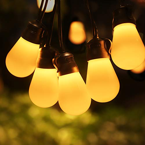 Govee Outdoor String Lights 48ft Shatterproof Remote Patio Lights with 15 Dimmable Warm Yellow LED Bulbs Waterproof Outdoor LED Lights for Patio Garden Backyard Party