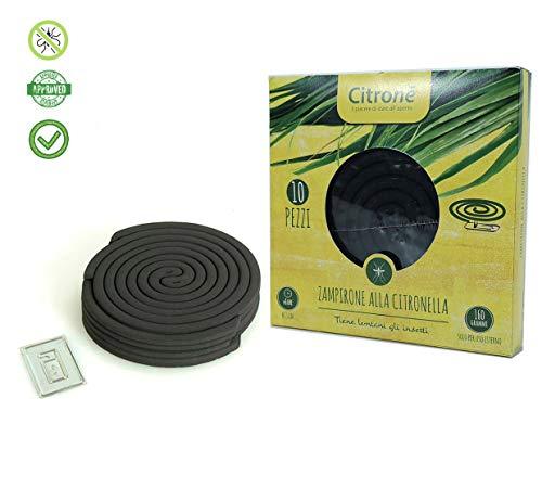 Citronè Spirali Antizanzare Profumate Repellenti alla Citronella - Conf 10 PZ