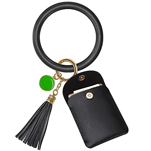Keychain Bracelets, Key Ring Bangle Wristlet Bangle Circle Key Ring for Women