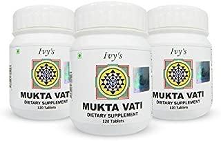 Original Ivy's Mukta Vati – Natural Ayurvedic Blood Pressure Support – 120 Tablets with Eight Major Herbs Formula (Pack of Three)