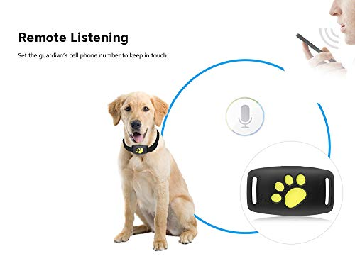 WIZU GPS Pet Tracker Dog/Cat Collar Waterproof|Alarm ecurity Fence|Remote Monitoring USB Charging (1pcs)