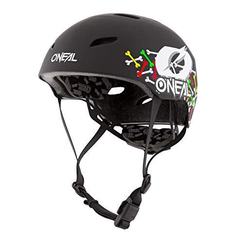 O'NEAL | Mountainbike-Helm | Kinder | Enduro All-Mountain | ABS Schale, Fidlock Magnetverschluss, große Ventilationsöffnungen | Dirt Lid Helmet Youth Skulls | Schwarz Multi | Größe L