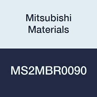 Mitsubishi Materials MS2XLBR0030N080 Series MS2XLB Carbide Mstar Ball Nose End Mill 0.3 mm Corner Radius 0.6 mm Cutting Dia Short Flute 8 mm Neck Length Long Neck 2 Flutes