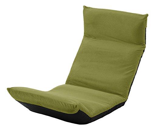 セルタン 日本製 高反発 座椅子 和楽の雲 LIGHT 上タイプ テクノグリーン 頭部脚部リクライニング A448上a-588GRN