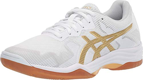 ASICS Women's Gel-Tactic 2 Volleyball Shoes, 7.5, White/Rich Gold