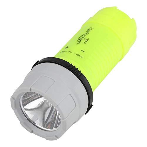 YAIZ Linterna, Linterna portátil de plástico, Interruptor Giratorio Duradero de 15 m para Acampar de Buceo
