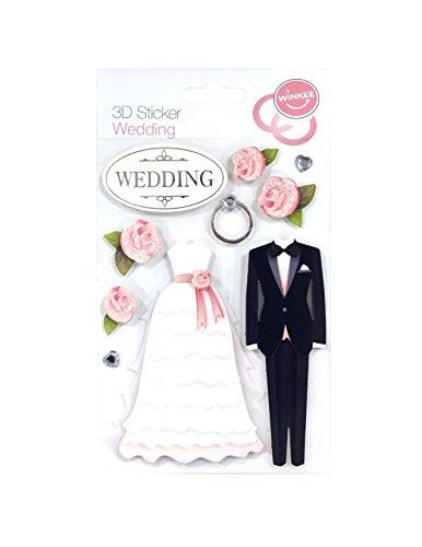 Winkee 3D Sticker Wedding   Hochzeit Aufkleber