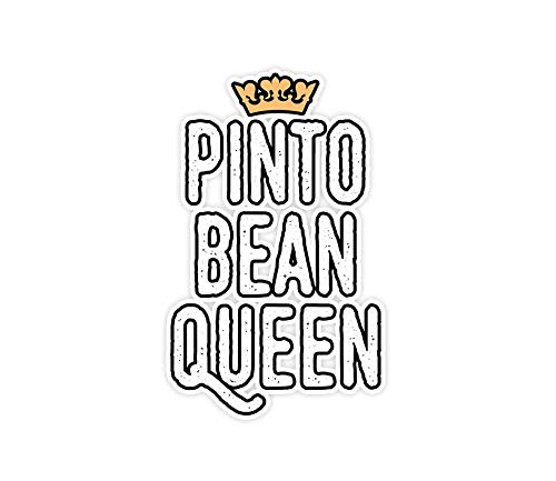 Nhuki 3 PCs Stickers Pinto Bean Queen, Funny Vegetable Eater Cute Beans idea - 3×4 Inch Die-Cut Wall Decals for Laptop Window Car Bumper Helmet Water Bottle