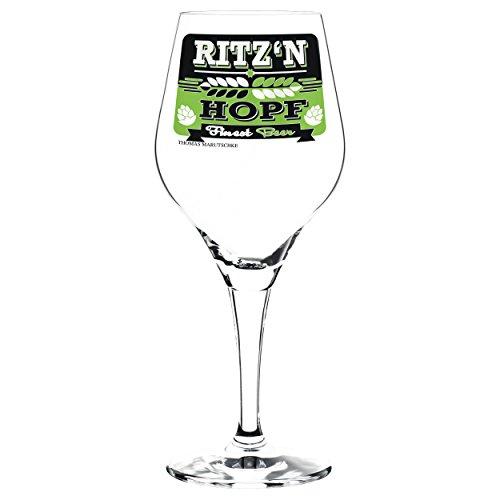 RITZENHOFF Craft Beer Bierglas von Thomas Marutschke, aus Kristallglas, 250 ml, mit fünf Bierdeckeln
