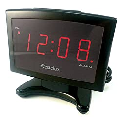 Westclox Alarm Clock Red 0.9 Red Led Display