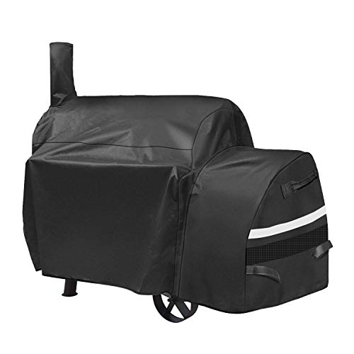 Grisun Grill Cover for Oklahoma Joe's Highland Smoker, Heavy Duty and Waterproof Charcoal Offset Smoker Cover, Fade and UV Resistant Cover