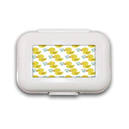 Schattige eend slaappil doos pil case pil organisator decoratieve dozen pil doos voor zak of portemonnee - 8 compartiment pil doos/pil case