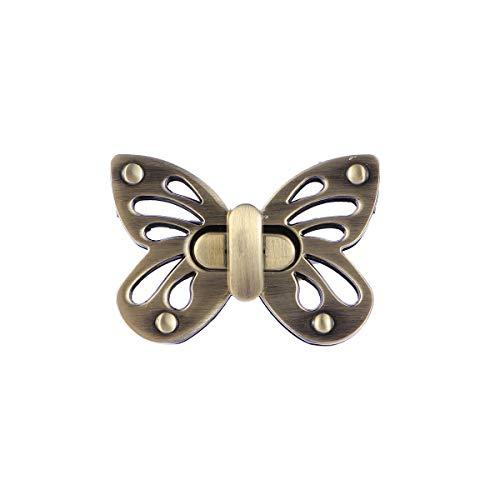 Supvox Weiblicher Taschen-Schmetterlings-Geldbeutel verriegelt Kupplungen Verschlüsse mit Schmetterlingsform, Geldbeutel-Torsions-Verschluss
