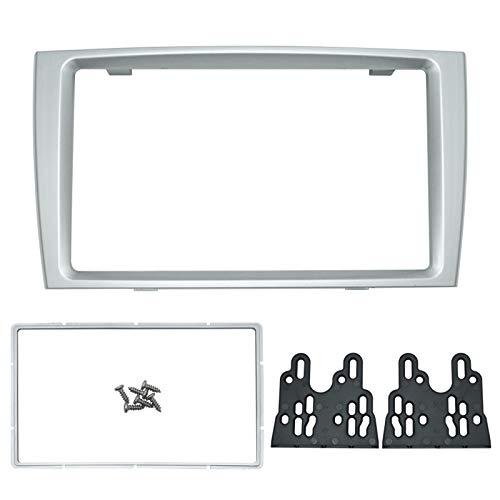 Feeldo de voiture double DIN DVD radio Façade Cadre Tableau de bord Montage sur Panneau d'installation adaptateur Trim Kit