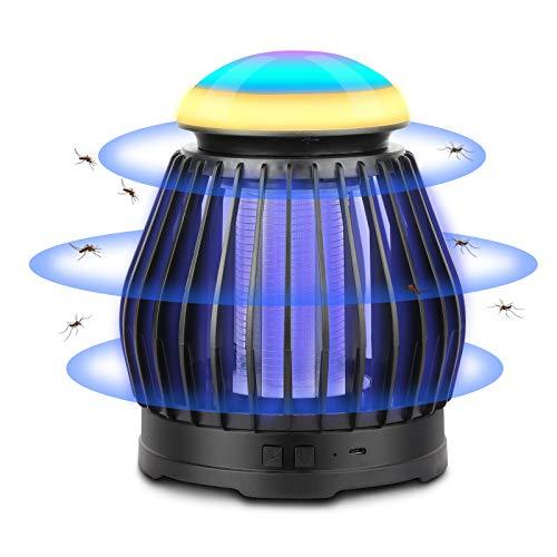 Sendowtek Lámpara antimosquitos eléctrico, LED lámpara Repelente de Mosquitos,con iluminación Ambiental RGB,Adecuado para Uso en Interiores y Exteriores(El Producto no Viene con Pilas)