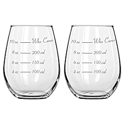calorie counting stemless wine glass