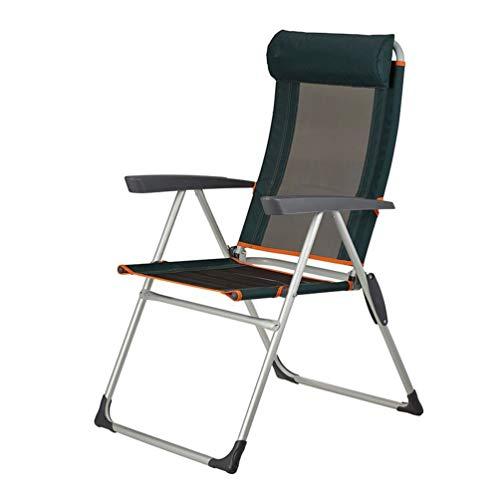 NIEUWE CHAIRS Outdoor Camping vouwstoel Hoge rug Draagbare fauteuil ligstoel Luie stoel Ademende Visstoel Gemakkelijk opgezet gewatteerd voor gazon, tuin, lichtgewicht aluminium frame