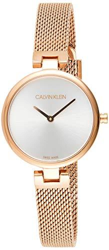 Calvin Klein Damen Analog Quarz Uhr mit Paqué or Armband K8G23626