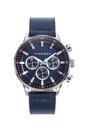 Viceroy Herren Multi Zifferblatt Quarz Uhr mit Leder Armband 42305-37