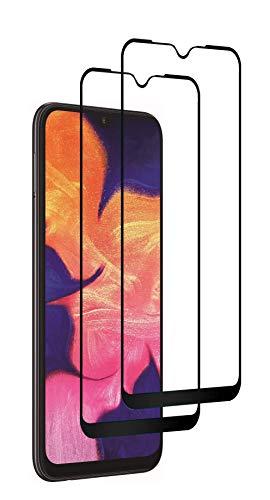 WEOFUN Panzerglas für Samsung Galaxy A10/A10S [2 Stück], 9H Härte,Ultra Dünn HD,Wasserdichtes Öl,Vollständige Abdeckung Panzerglas Schutzfolie -(Schwarz )