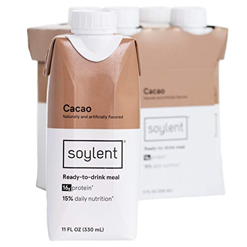 Soylent Meal Replacement Shake, Cacao, 11 Fluid Ounce (Pack of 4)