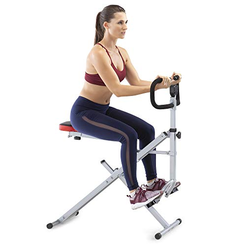Marcy Squat Rider Machine Bench for Glutes and Quads Workout XJ-6334, White/Black