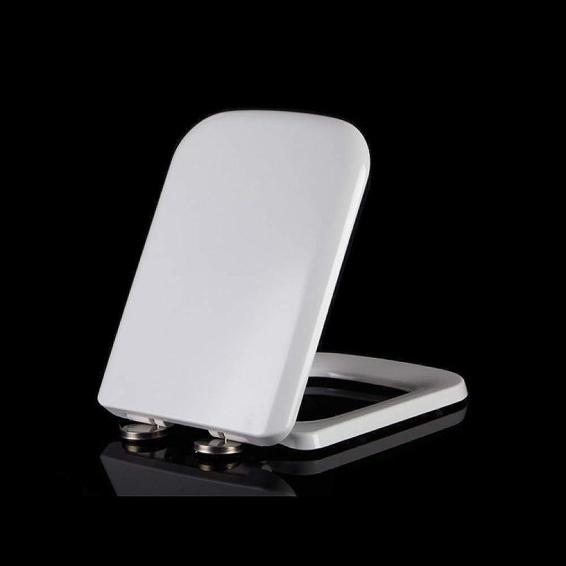 カーテン細胞チャレンジKTYXDE 長方形の便座、ソフトウェアラブルリリースヒンジ付きスーパーウェアラブルトップマウント厚手PPプレート便座 トイレのふた (Color : A)