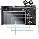 designed for sony a6100 a6600 A6400 A6300 A6000 NEX-7 NEX-6L suit perfect edge to edge tempered glass screen protector(4 pack)hot show level cover (2 pack) This LCD protector is self adhesive, leaves no imprint silicon and does no harm to Camera LCD ...