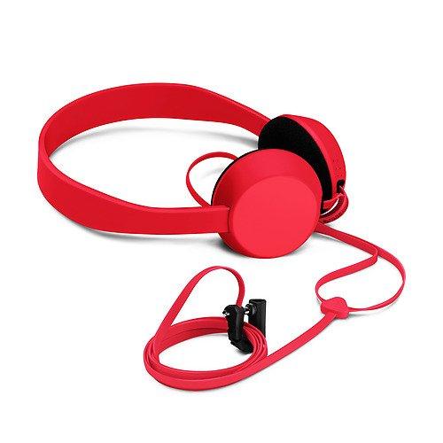 Nokia Coloud Pop In-Ear hoofdtelefoon met geïntegreerde microfoon- en hoekvrije kabel compatibel met smartphones, tablets en MP3-apparaten - Cyaan blauw Klop (Op het Oor) Rood