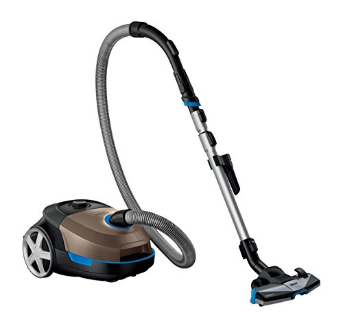 Philips Performer Active FC8577/9with Cylinder 4L 900Watt Black, Blue, Copper, Grey Vacuum Cleaner[Energy Class A]