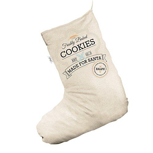 appena sfornato Cookies for Santa Personalised Jumbo Natural calza di Natale