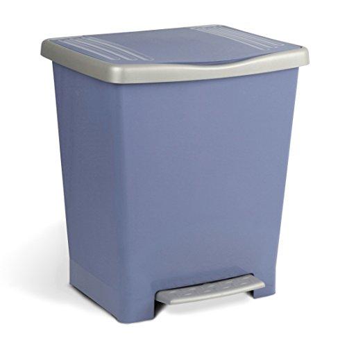 Tatay Millenium Cubo de Basura con Apertura a Pedal, 23 l de Capacidad, Plástico Polipropileno, Azul, 33,5 x 30 x 39 cm
