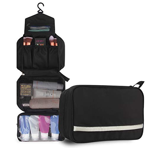 relavel-cosmetic-pouch-toiletry-bags-travel-business-handbag-waterproof-compact-hanging-personal-care-hygiene-purse-black