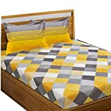 Trade Cart Cotton Fabric Bedsheet for Double Bed with 2 Pillow Covers