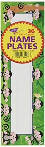 TREND enterprises, Inc. Monkey Mischief Desk Toppers Name Plates, 36 ct