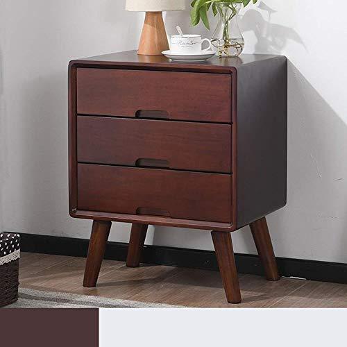 TXXM® Herstellung Massivholz Nachttisch Kleines Nordic Einfache modern Klein 40cm Breite Economy Massivholz-Schlafzimmer Einfache Praktische Möbel (Color : C, Size : 40×35×54.0cm)