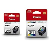 Canon PG-240 Black Ink Cartridge, Compatible to MG3620,MG3520,MG4220,MG3220 and MG2220 AND Color Ink Cartridge