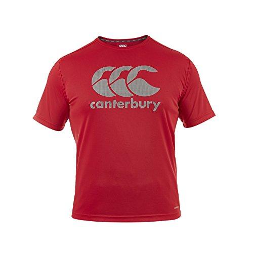Canterbury Herren Vapodri Training mit Großem Logodruck T-Shirt, Flaggen Rot, L