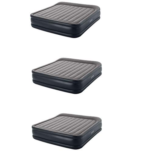Learn More About Intex Deluxe Pillow Rest Inflatable Air Bed with Built In Pump, King (3 Pack)