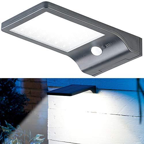 Lunartec Außenleuchten: Solar-LED-Wandleuchte mit PIR-Sensor & Nachtlicht, IP44, 350 Lumen (Solarleuchte aussen)
