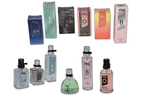Schnäppchenladen24 Jameitop®trend düfte: set x 6 sechs parfüm für damenherren 15 ml jedes einzeln in box spray kopf