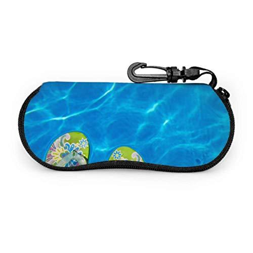 Coloured Flip Flops Float In The Swimming Pool Glasses Cases Best Sunglass Case Light Portable Neoprene Zipper Soft Case Eyeglass Case Boys