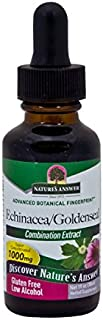 Nature's Answer Echinacea and Goldenseal with Organic Alcohol, 1-Fluid Ounce
