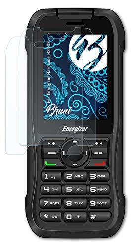 Bruni Schutzfolie kompatibel mit Energizer Hardcase H240S Folie, glasklare Bildschirmschutzfolie (2X)