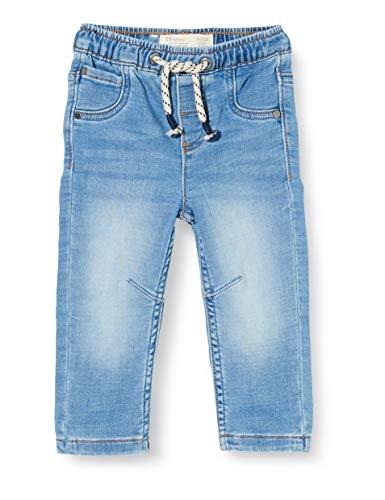 ZIPPY Pantalón Vaquero para bebé niño. Cintura elástica con cordón de Ajuste a Color. Cuatro Bolsillos. SS20 Jeans, Light Blue Denim, 18/24M para Bebés