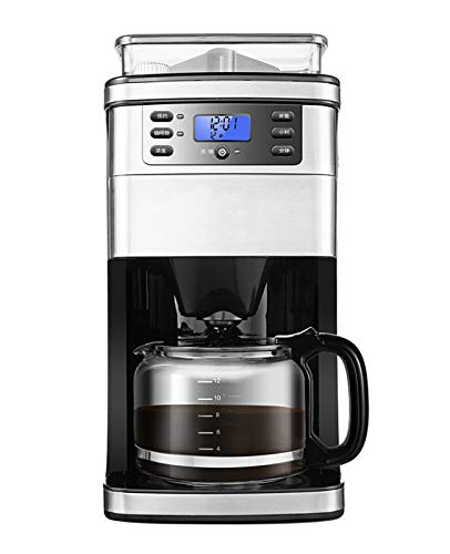 Drip Coffee Machine, 24-hour Programmable Coffee Maker With Coffee Grinder 12 Cup Coffee Pot With Strength Control Coffee Brewer For Capsule And Ground Coffee