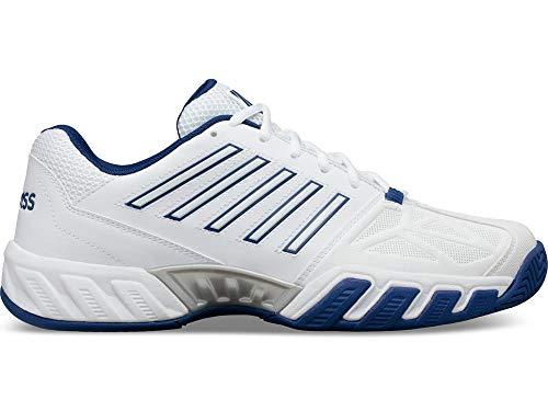 K-Swiss Men's Bigshot Light 3 Tennis Shoe (White/Limoges/Silver, 14)