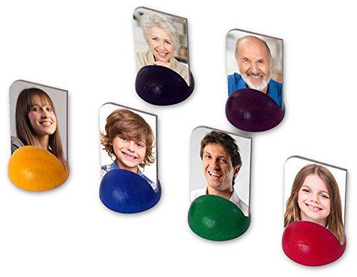 Luudoo Personalisierte Foto-Spielfiguren - Bedruckt mit ihren Bildern (6 Figuren in 6 Farben)