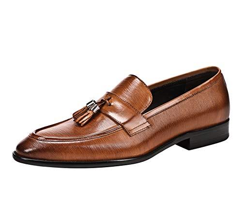 YOWAX para Hombre Zapatos de Cuero Zapatos de Vestido de la Manera...